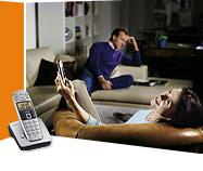 Service corded and cordless phones - wireless DECT / WiFi IP